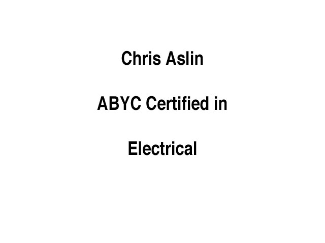 ABYC Certified Text