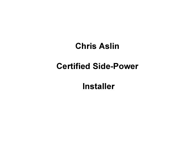 Certified Side-Power Installer